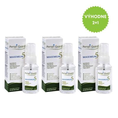 Perspi-Guard Maximum 5 antiperspirant proti nadmernému poteniu 3×30 ml